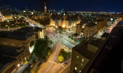Night skyline in Ottawa Ontario