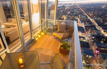 Architectural photography, Photo of condo patio design goes to a new level at this Shangri-La bldg in downtown Toronto.