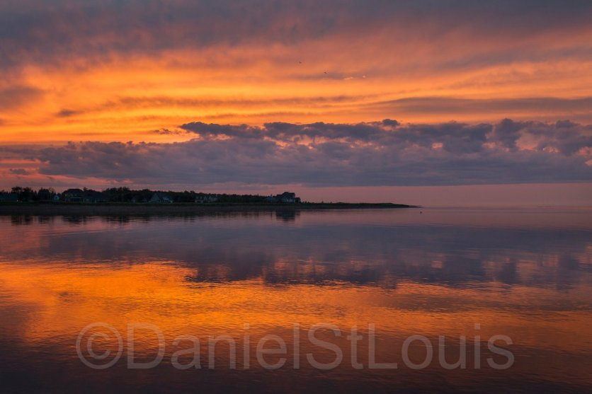 Sunset on the water in Grand Barachois, NB.