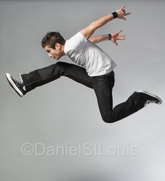 High energy - jumping studio photo