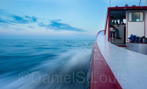 Fisher boat at la Dune de Bouctouche, NB.
