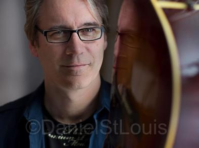 Photo of musical artist Chris Boudreau in Moncton.