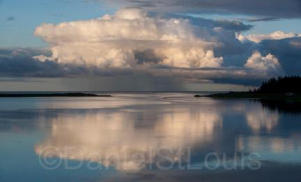 Clouds on the water in Grand Barachois, NB.