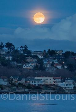 A beautiful moon just after sunset - Oak Bay, Victoria BC.