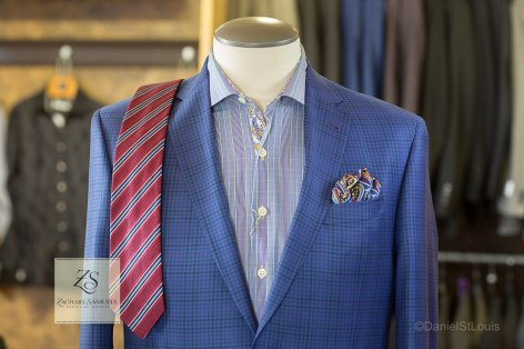 Suit for Zachary Samuels fashion photoads.