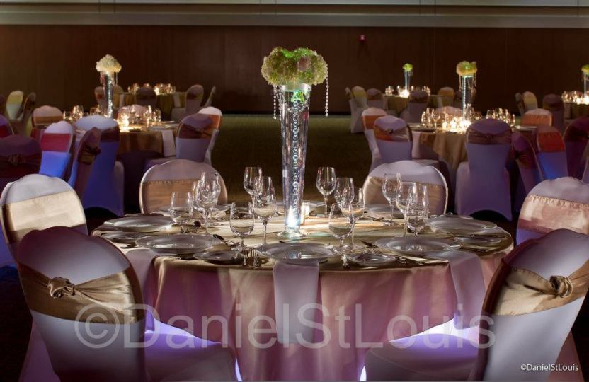 Interior photography, fredericton convention centre table setting