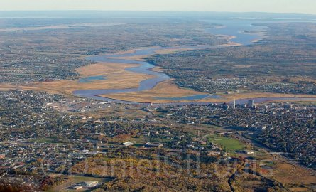 aerial view of the city of moncton