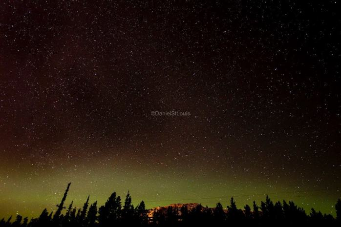 Aurora Boralis outside Yukon, Whitehorse.