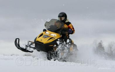 Snowmobiling in New Brunswick.