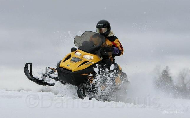 Snowmobiling in New Brunswick.