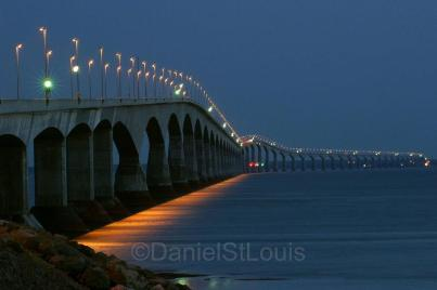 The famous Confederation Bridge to Prince Edward Island, Canada.