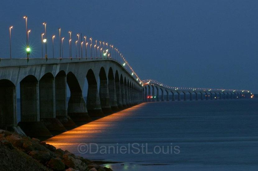 The famous Confederation Bridge to Prince Edward Island, Canada.