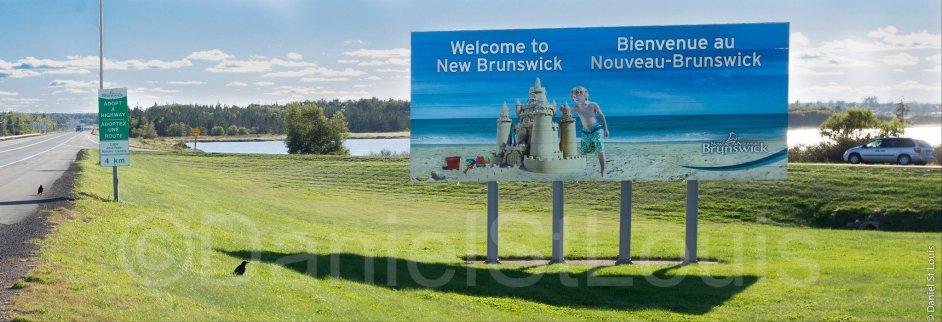 Welcome to New Brunswick billboard sign.