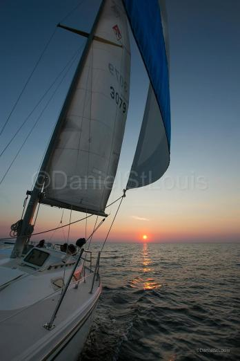 Sunset sailing on Shediac Bridge NB.