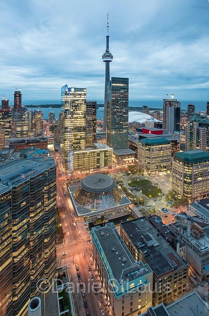 Toronto skyline from Shangria-La.