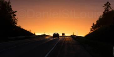 Sunset drive near Petitcodiac, NB.