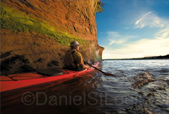 Kayaking in St. Martins for Tourism NB Campaign