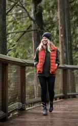 Outerwear photography on the Capilano Bridge, BC