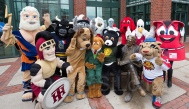 When mascots are the group photo- Special guest- FIFA's Schueme