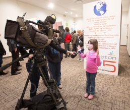 This little girl is sharing her excitement about her Resurgo Place visit