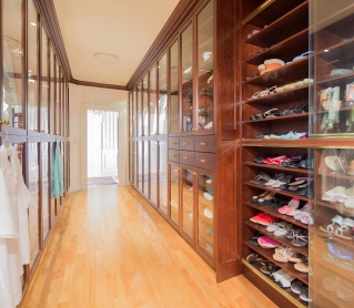 Interior photography , Inside walk-in closet in downtown Toronto condo.