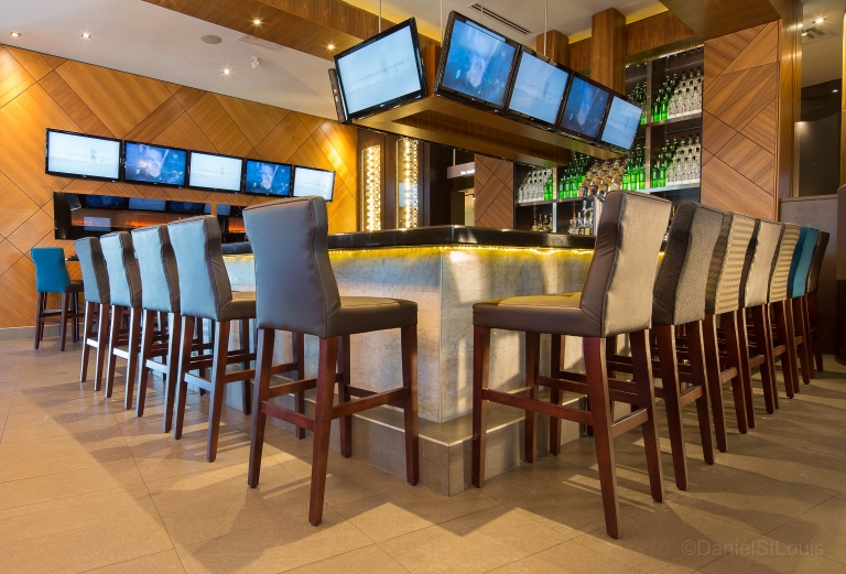Interior photography of Moxies' Bar and Grill, Moncton NB