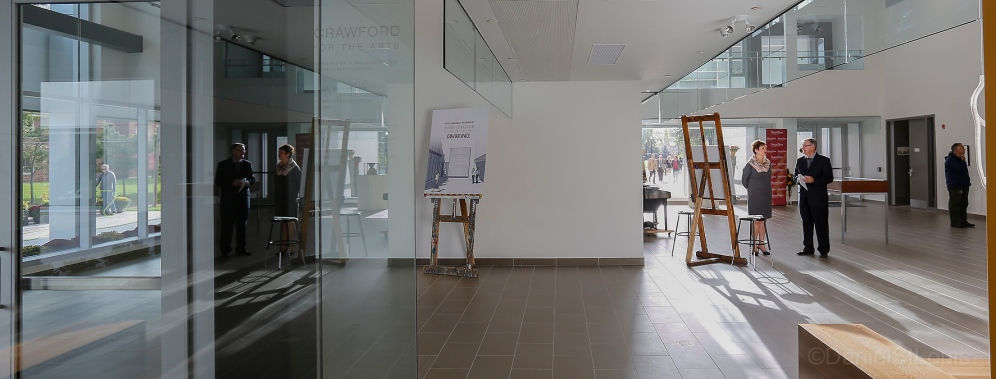 Interior photography of the Purdy Crawford Centre for the Arts, Mount Allison University.